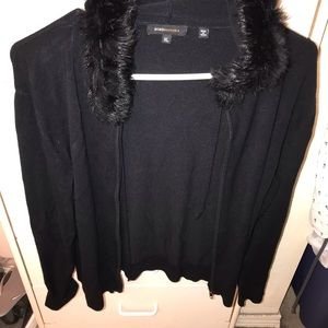 Up for grabs is a BCBG sweater hoodie